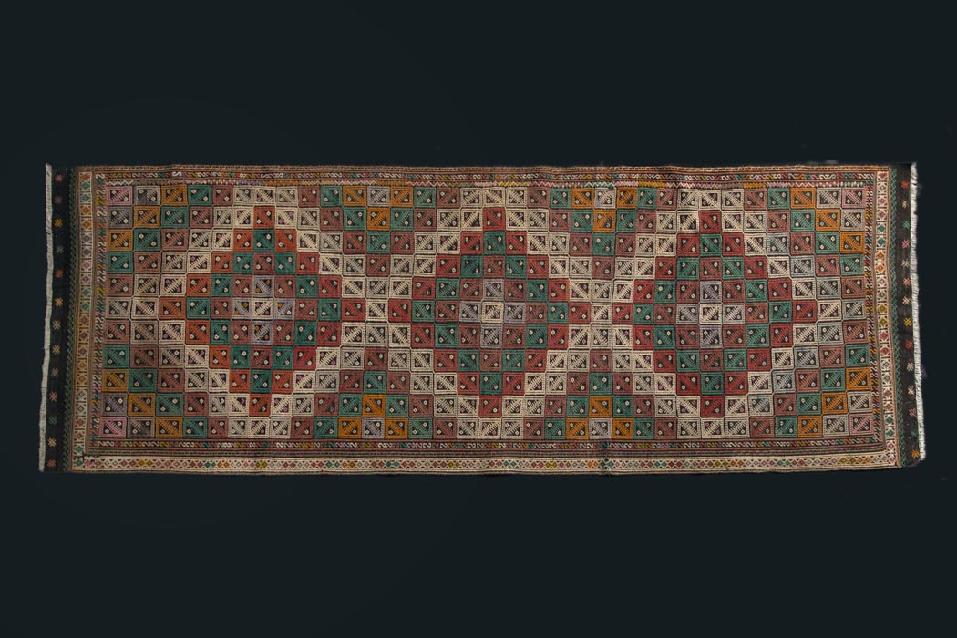 Semi antik kelimtæppe fra www.unikantik.dk Kilim no. HS 1117