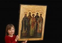 Antik russisk kirke ikon BI20, Pris 16.500 kr