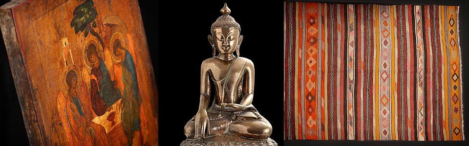 forside varekatalog antikke buddhaer orientalske møbler ikoner kelim ...