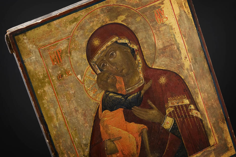 Antik russisk ikon BI16, Solgt - UNIK ANTIK. DK